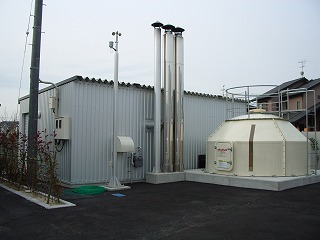ペレットによる地域集中冷暖房システム