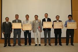 上位5社の施工代理店表彰